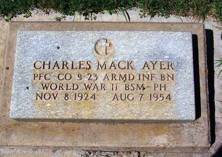 AYER (VETERAN WWII), CHARLES MACK - Carbon County, Wyoming | CHARLES MACK AYER (VETERAN WWII) - Wyoming Gravestone Photos
