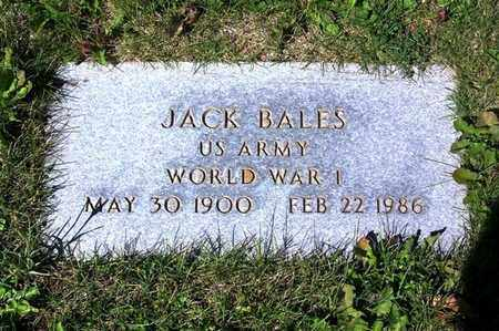 BALES (VETERAN WWI), JACK - Carbon County, Wyoming   JACK BALES (VETERAN WWI) - Wyoming Gravestone Photos