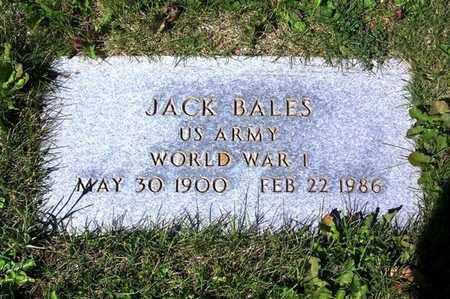 BALES (VETERAN WWI), JACK - Carbon County, Wyoming | JACK BALES (VETERAN WWI) - Wyoming Gravestone Photos