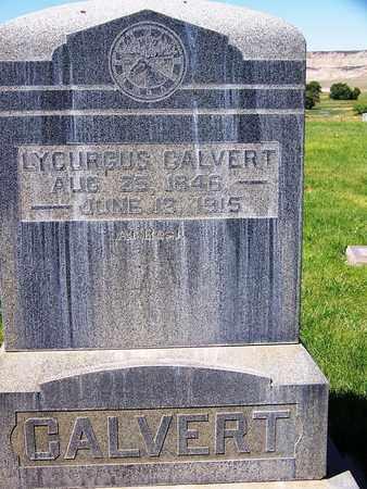 CALVERT, LYCURGUS - Carbon County, Wyoming | LYCURGUS CALVERT - Wyoming Gravestone Photos
