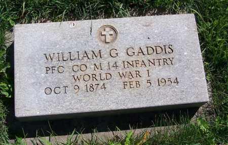 GADDIS (VETERAN WWI), WILLIAM G - Carbon County, Wyoming | WILLIAM G GADDIS (VETERAN WWI) - Wyoming Gravestone Photos