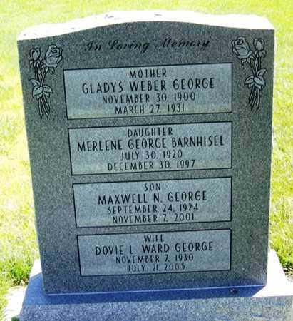 WEBER GEORGE, GLADYS - Carbon County, Wyoming | GLADYS WEBER GEORGE - Wyoming Gravestone Photos