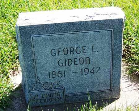 GIDEON, GEORGE L - Carbon County, Wyoming | GEORGE L GIDEON - Wyoming Gravestone Photos