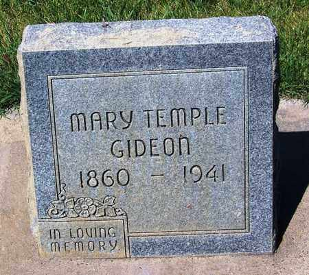 TEMPLE GIDEON, MARY - Carbon County, Wyoming | MARY TEMPLE GIDEON - Wyoming Gravestone Photos