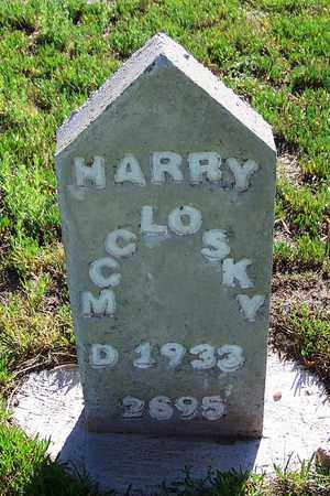 MCCLOSKY, HARRY - Carbon County, Wyoming | HARRY MCCLOSKY - Wyoming Gravestone Photos