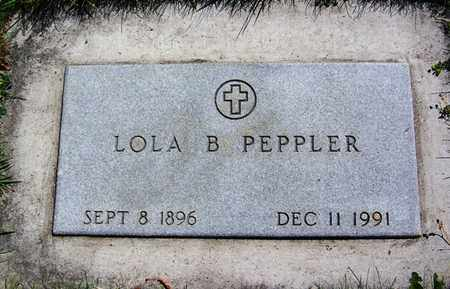 PEPPLER, LOLA B - Carbon County, Wyoming | LOLA B PEPPLER - Wyoming Gravestone Photos