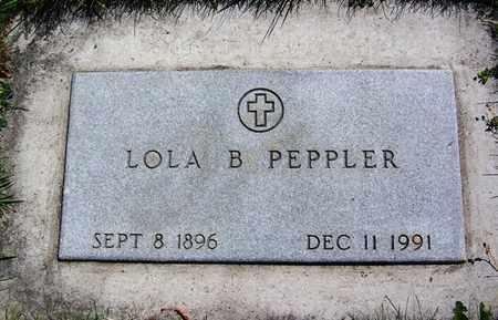 PEPPLER, LOLA B - Carbon County, Wyoming | LOLA B PEPPLER - Wyoming Gravestone Photos
