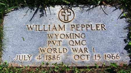 PEPPLER (VETERAN WWI), WILLIAM - Carbon County, Wyoming | WILLIAM PEPPLER (VETERAN WWI) - Wyoming Gravestone Photos