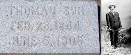SUN, THOMAS DEBEAU (FAMOUS) - Carbon County, Wyoming | THOMAS DEBEAU (FAMOUS) SUN - Wyoming Gravestone Photos