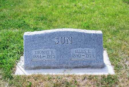 SUN, ELLEN E - Carbon County, Wyoming | ELLEN E SUN - Wyoming Gravestone Photos