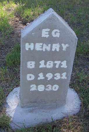 HENRY, E G - Carbon County, Wyoming | E G HENRY - Wyoming Gravestone Photos