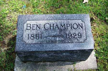 CHAMPION, BEN - Johnson County, Wyoming | BEN CHAMPION - Wyoming Gravestone Photos