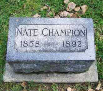 """CHAMPION, NATHAN D """"NATE"""" (FAMOUS) - Johnson County, Wyoming 