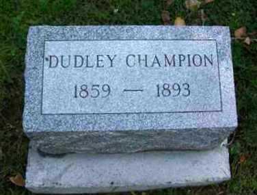 CHAMPION, RUFUS DUDLEY - Johnson County, Wyoming | RUFUS DUDLEY CHAMPION - Wyoming Gravestone Photos