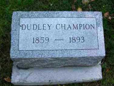 CHAMPION, RUFUS DUDLEY - Johnson County, Wyoming | RUFUS DUDLEY CHAMPION - Wyoming Gravestone Photos