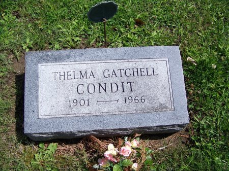 GATCHELL CONDIT, THELMA - Johnson County, Wyoming | THELMA GATCHELL CONDIT - Wyoming Gravestone Photos