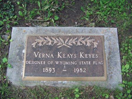 KEYES, VERNA - Johnson County, Wyoming | VERNA KEYES - Wyoming Gravestone Photos