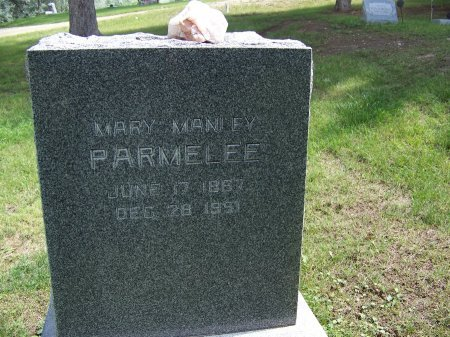 MANLEY PARMELEE, MARY - Johnson County, Wyoming | MARY MANLEY PARMELEE - Wyoming Gravestone Photos