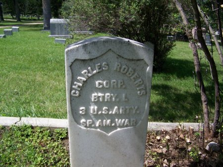 ROBERTS (VETERAN SP. AM.), CHARLES - Johnson County, Wyoming | CHARLES ROBERTS (VETERAN SP. AM.) - Wyoming Gravestone Photos