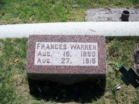 WARREN, FRANCES - Johnson County, Wyoming   FRANCES WARREN - Wyoming Gravestone Photos