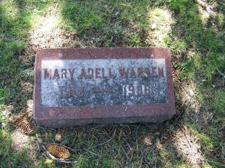 WARREN, MARY ADELL - Johnson County, Wyoming | MARY ADELL WARREN - Wyoming Gravestone Photos