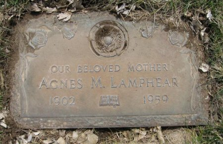 PIERCE LAMPHEAR, AGNES MAE - Laramie County, Wyoming | AGNES MAE PIERCE LAMPHEAR - Wyoming Gravestone Photos