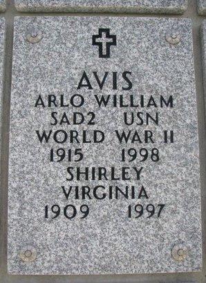 AVIS, SHIRLEY VIRGINIA - Natrona County, Wyoming | SHIRLEY VIRGINIA AVIS - Wyoming Gravestone Photos