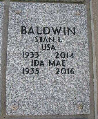 BALDWIN, IDA MAE - Natrona County, Wyoming | IDA MAE BALDWIN - Wyoming Gravestone Photos