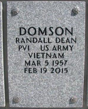 DOMSON, RANDALL DEAN - Natrona County, Wyoming   RANDALL DEAN DOMSON - Wyoming Gravestone Photos