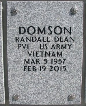 DOMSON, RANDALL DEAN - Natrona County, Wyoming | RANDALL DEAN DOMSON - Wyoming Gravestone Photos