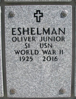 ESHELMAN, OLIVER JUNIOR - Natrona County, Wyoming | OLIVER JUNIOR ESHELMAN - Wyoming Gravestone Photos