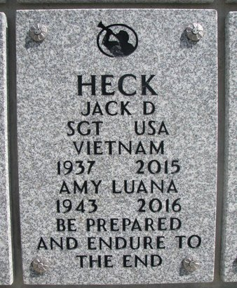 HECK, JACK D. - Natrona County, Wyoming | JACK D. HECK - Wyoming Gravestone Photos