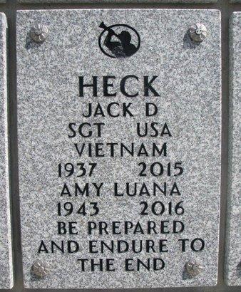 HECK, JACK D. - Natrona County, Wyoming | JACK D. HECK - Wyoming Gravestone Photos