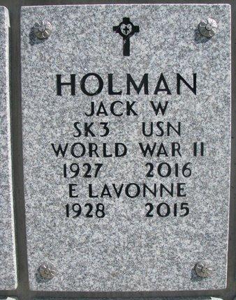 HOLMAN, JACK W. - Natrona County, Wyoming | JACK W. HOLMAN - Wyoming Gravestone Photos