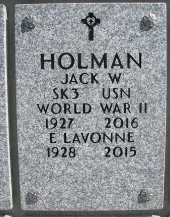 HOLMAN, E. LAVONNE - Natrona County, Wyoming   E. LAVONNE HOLMAN - Wyoming Gravestone Photos