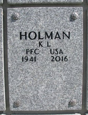 HOLMAN, K.L. - Natrona County, Wyoming | K.L. HOLMAN - Wyoming Gravestone Photos