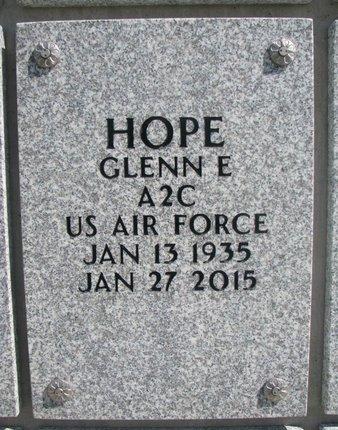 HOPE, GLENN E. - Natrona County, Wyoming | GLENN E. HOPE - Wyoming Gravestone Photos