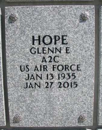 HOPE, GLENN E. - Natrona County, Wyoming | GLENN E. HOPE - Wyoming Gravestone Photos