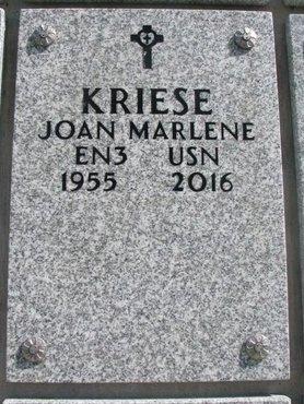 KRIESE, JOAN MARLENE - Natrona County, Wyoming | JOAN MARLENE KRIESE - Wyoming Gravestone Photos