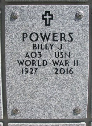 POWERS, BILLY J. - Natrona County, Wyoming | BILLY J. POWERS - Wyoming Gravestone Photos