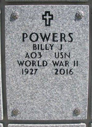 POWERS, BILLY J. - Natrona County, Wyoming | BILLY J. POWERS - Wyoming Gravestone Photos