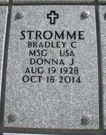 STROMME, DONNA J. - Natrona County, Wyoming | DONNA J. STROMME - Wyoming Gravestone Photos