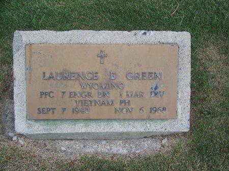 GREEN (VETERAN VIET), LAURENCE B. - Park County, Wyoming | LAURENCE B. GREEN (VETERAN VIET) - Wyoming Gravestone Photos