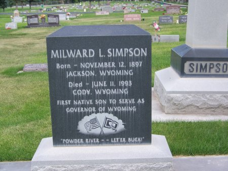 SIMPSON (FAMOUS), MILWARD L. - Park County, Wyoming   MILWARD L. SIMPSON (FAMOUS) - Wyoming Gravestone Photos