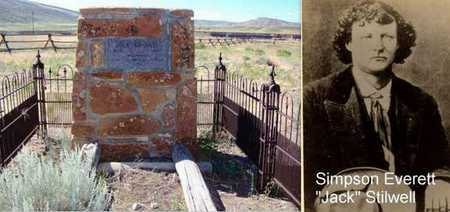"STILWELL, SIMPSON EVERETT ""JACK"" (FAMOUS) - Park County, Wyoming   SIMPSON EVERETT ""JACK"" (FAMOUS) STILWELL - Wyoming Gravestone Photos"