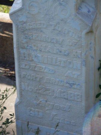 HAMILTON, RICHARD H. - Uinta County, Wyoming   RICHARD H. HAMILTON - Wyoming Gravestone Photos